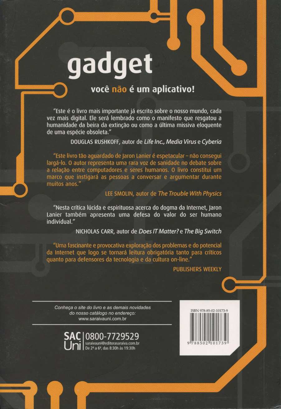 web resources related to the book you are not a gadget by