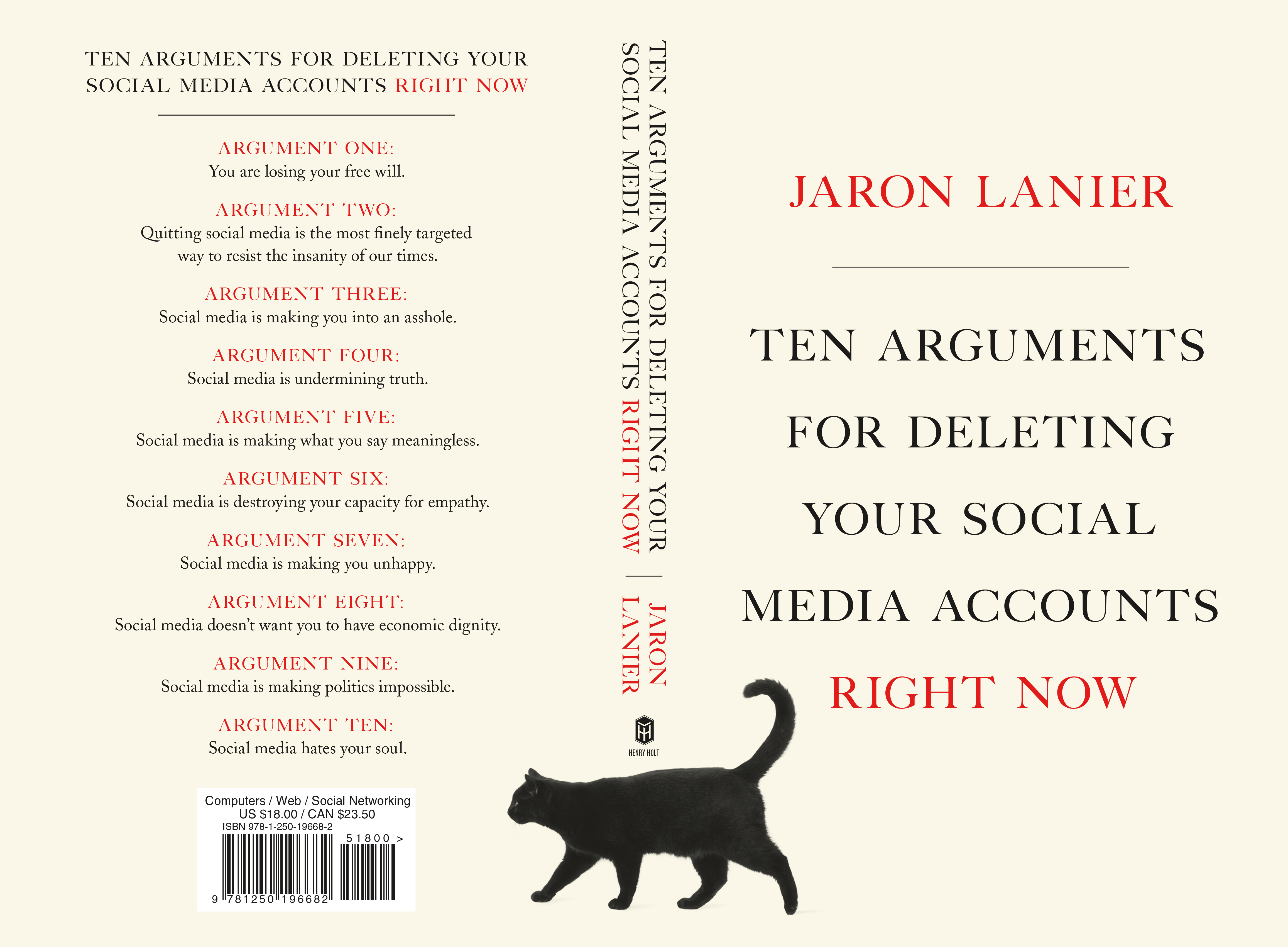 USA edition of Ten Arguments for Deleting Your Social Media Accounts Right Now